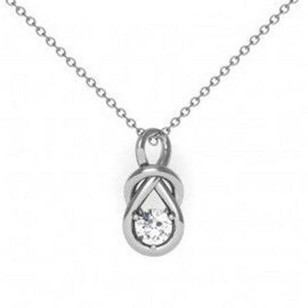 Harry Chad Enterprises HC11195 0.50 CT G VS2 Round Cut Diamond Necklace Pendant - 14K White Gold - image 1 of 1