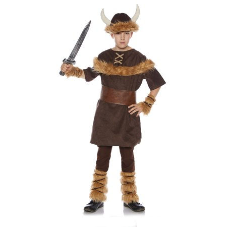 Viking Boy Child Barbarian Hunter Brown Halloween Costume](Viking Halloween Costumes Kids)