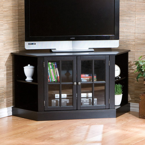 Davenport Black Corner Media Stand, for TVs up to 42""