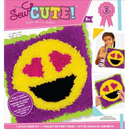 Colorbok Sew Cute Latch Hook Kit Emoji Heart Eyes ()