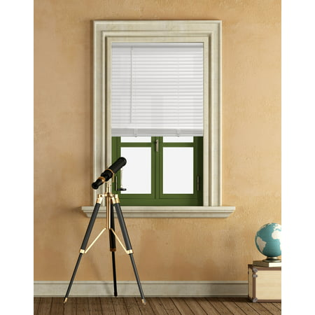 "Mainstays Cordless 1"" Vinyl Light Filtering Blinds, White, Multiple Sizes"