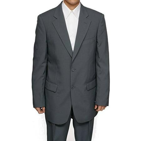 Mens Gray (Grey) Dress Suit - Includes Jacket & (Best Dressed Men In Suits)
