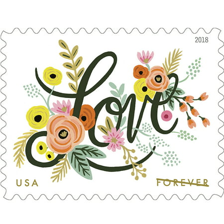 Love Flourishes Sheet of 20 Forever USPS First Class Postage Stamps Wedding Love