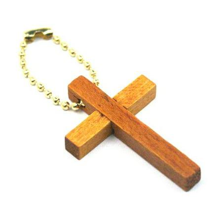 Wooden Cross Key Chains (1 dz)