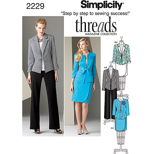 Simplicity Pattern Misses' Sportswear, Jacket/Pants/Skirt, (16, 18, 20, 22, 24)