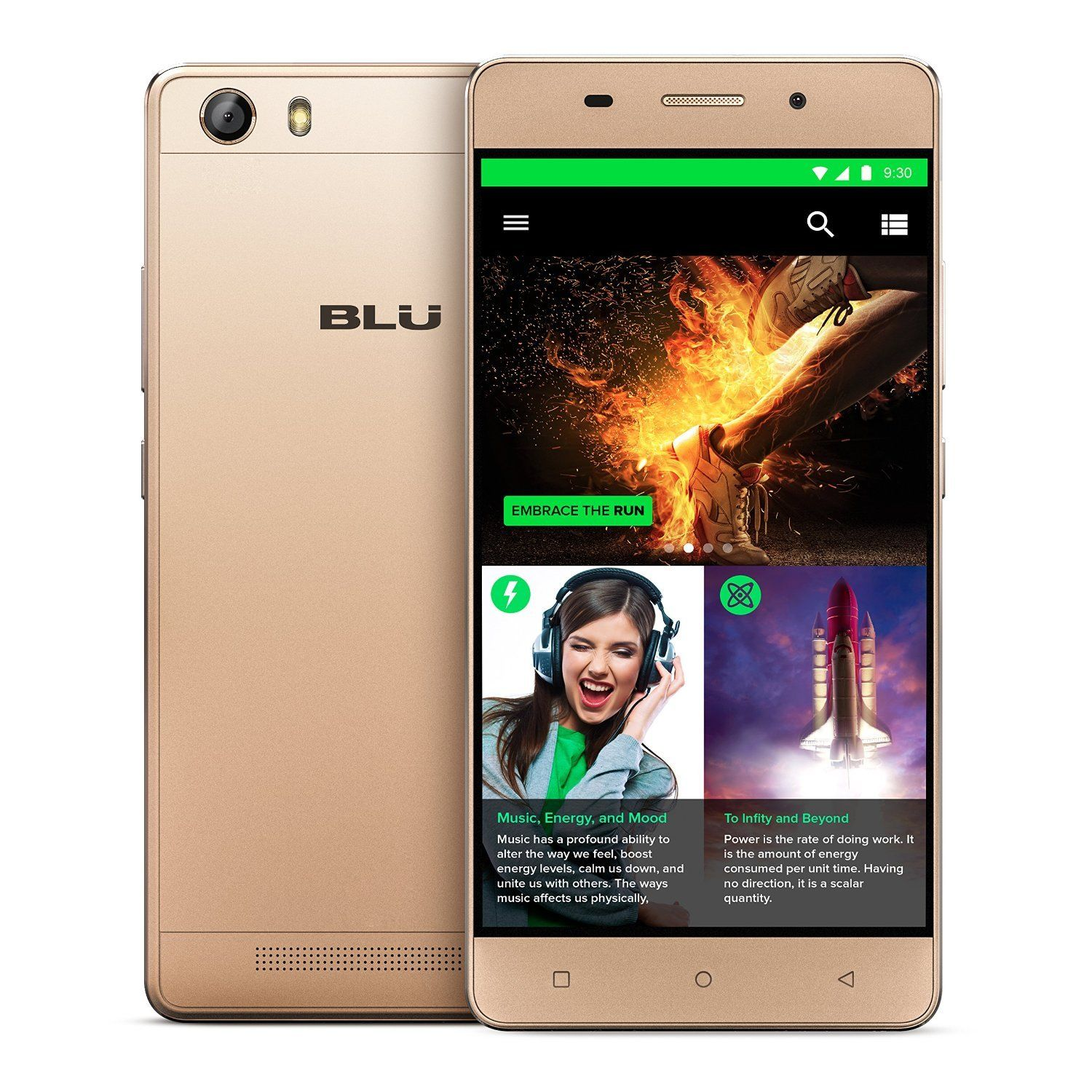 "BLU Energy X LTE E0010uu 5"" Cell Phone 4G GSM Unlocked Android"