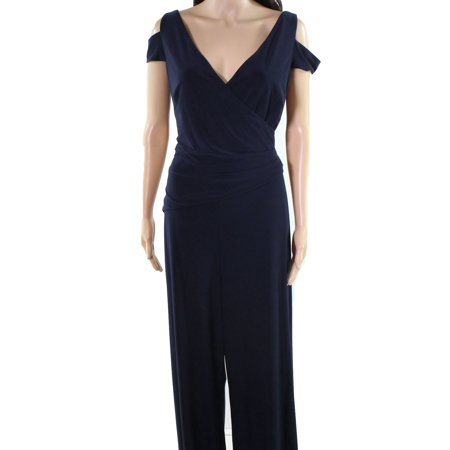 Lauren by Ralph Lauren NEW Navy Blue Womens Size 12 Stretch Jumpsuit