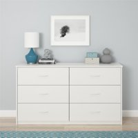 Mainstays 6 Drawer Dresser, Multiple Colors