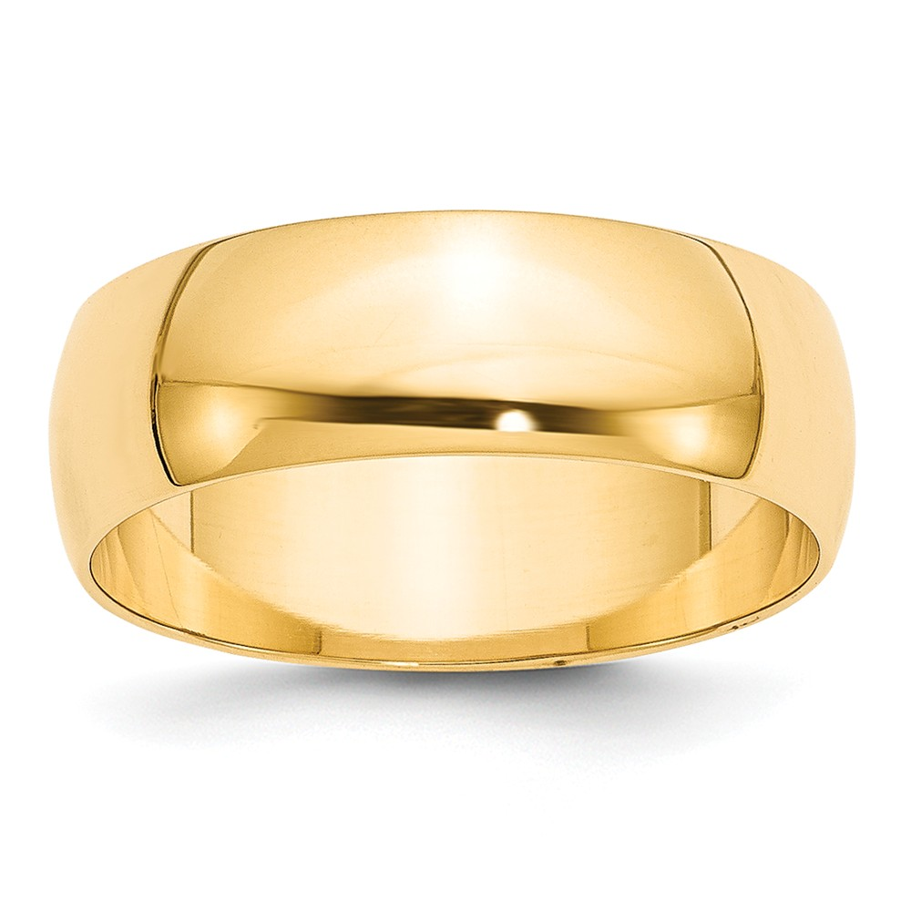 ICE CARATS 14kt Yellow Gold 7mm Ltw Half Round Wedding Ring Band Size 9 Classic Fine Jewelry Ideal Gifts For Women Gift... by IceCarats Designer Jewelry Gift USA