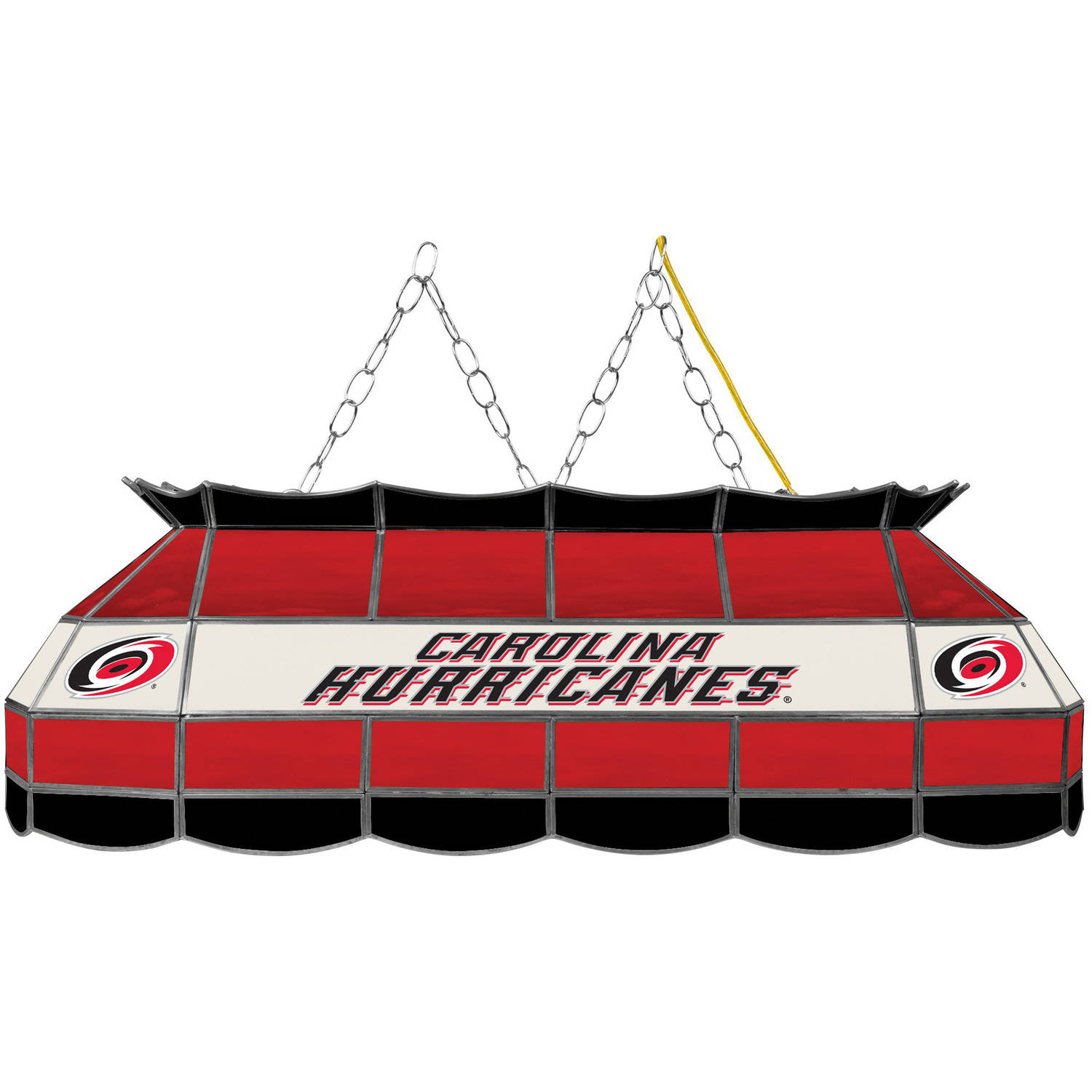 "NHL Handmade Tiffany Style Lamp, 40"", Carolina Hurricanes"