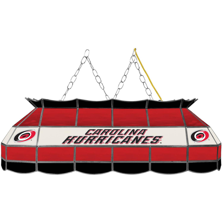 """NHL Handmade Tiffany Style Lamp, 40"""", Carolina Hurricanes"""