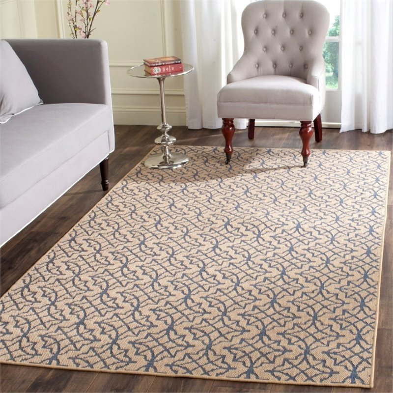 Safavieh Palm Beach 4' X 6' Hand Woven Rug in Natural and Black - image 1 de 8