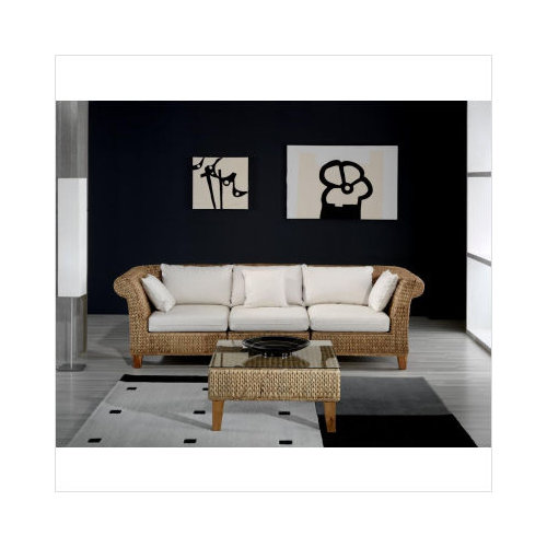 Hospitality Rattan Seagrass Sofa In Natural