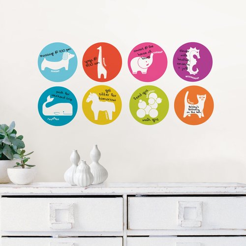 WallPops! Jonathan Adler Menagerie Weekly Dots Dry Erase Whiteboard Wall Decal