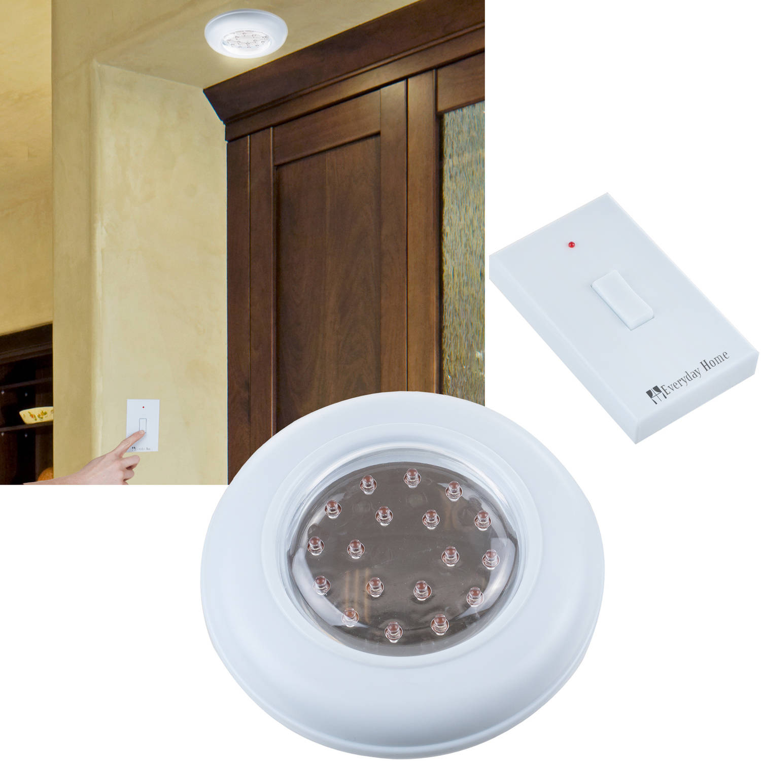 Remote Control Wall Mount cordless ceiling/wall light with remote control light switch