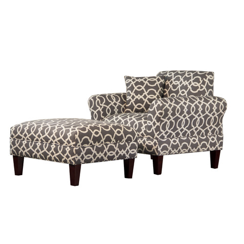 Carolina Accents Briley Club Chair and Ottoman by