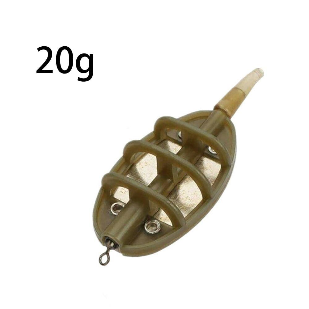 10x Metal Carp Bait Trap Cage Fishing Pellet Feeder Inline Method Feeders