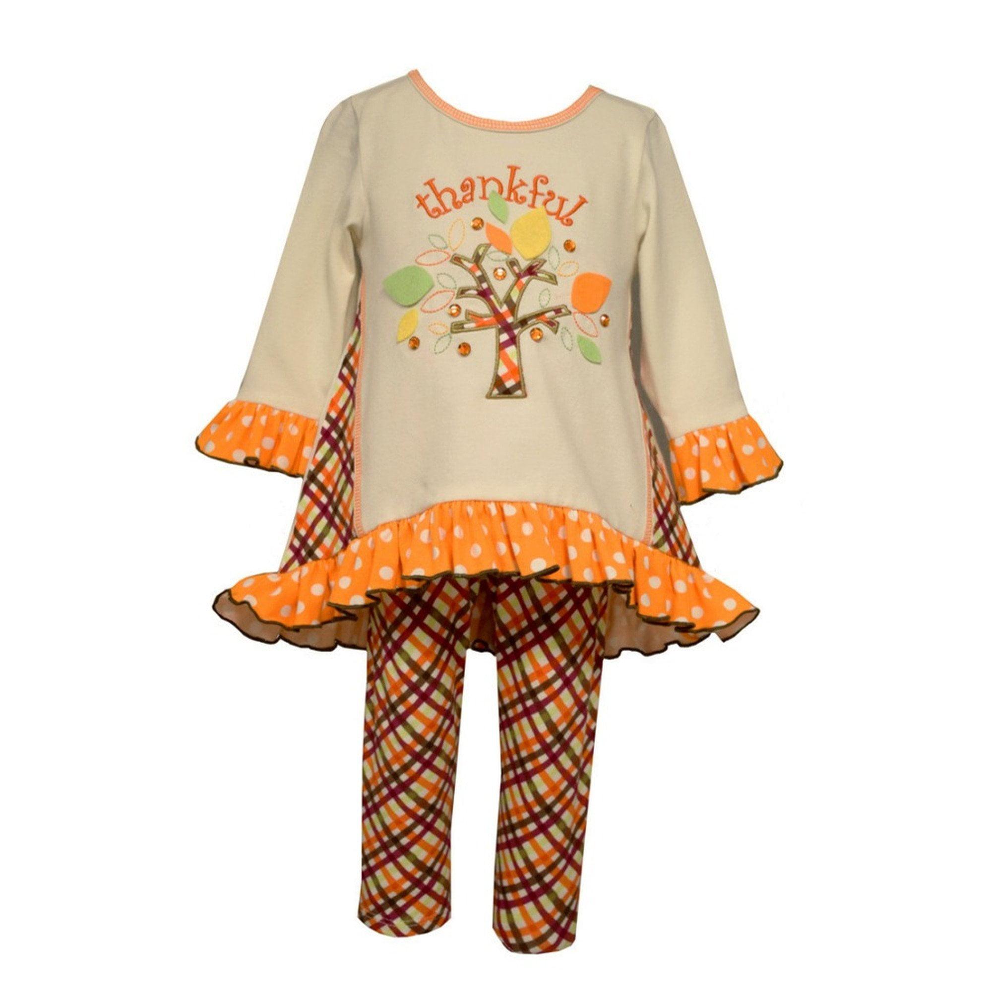 Bonnie Jean Thankful Knit Set, Ivory