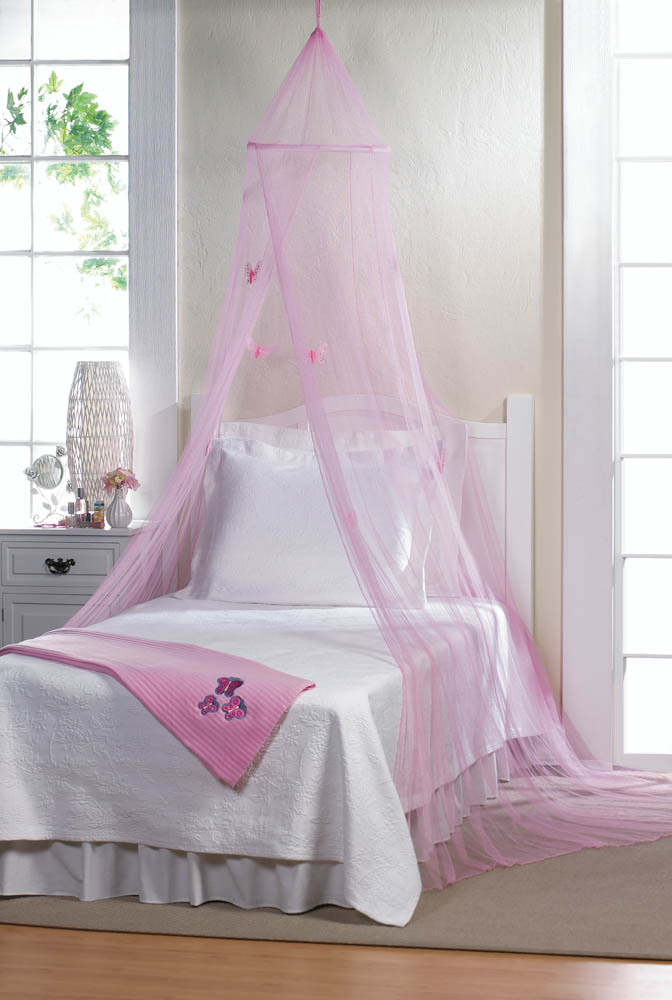 Bed Canopy For Girls Mosquito Netting Canopy Princess Pink Butterfly Bed Canopy - Walmart.com & Bed Canopy For Girls Mosquito Netting Canopy Princess Pink ...