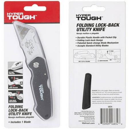 Hyper Tough Folding Utility Knife 6834