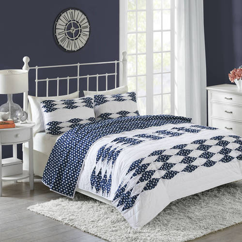 Better Homes and Gardens Peekaboo Dot and Pintuck Quilt Collection by E&E Co.