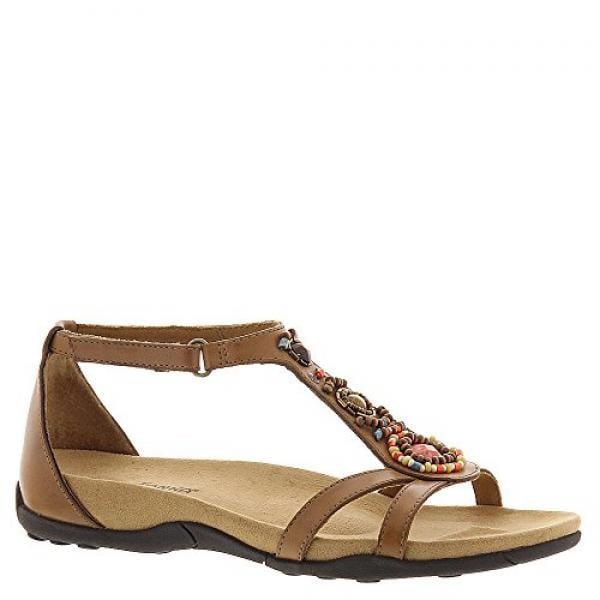 Minnetonka Women's Bayshore Dress Sandal,Saddle,10 M US by