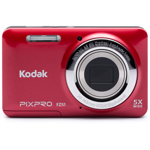 Kodak Red FZ51-RD Digital Camera with 16.15 Megapixels and 5x Optical Zoom