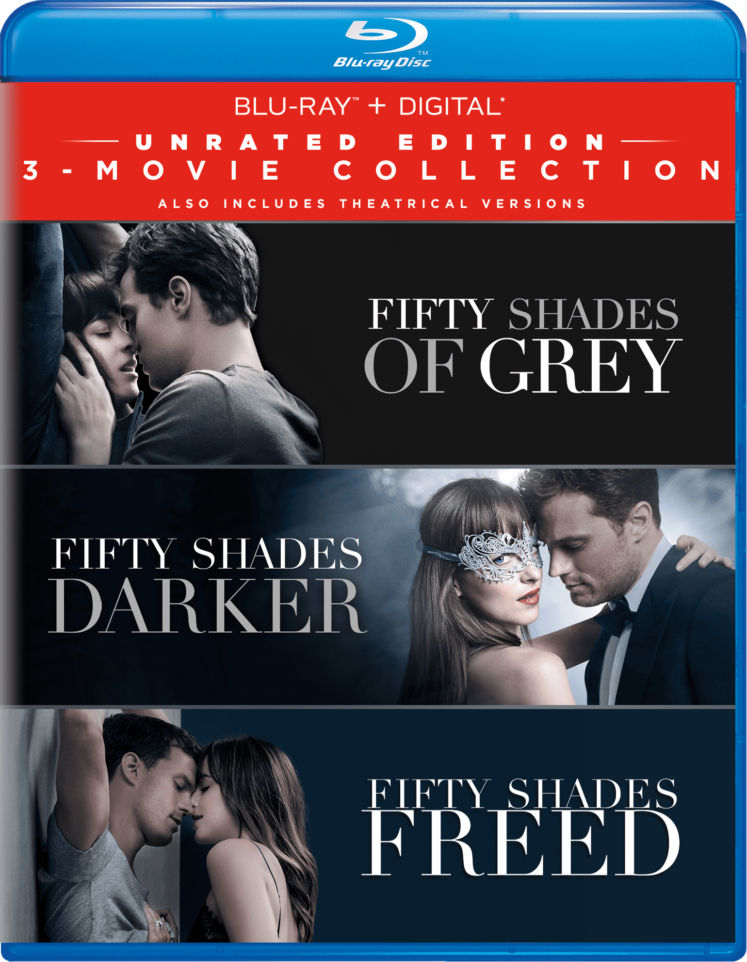 Fifty Shades 3 Movie Collection Unrated Edition Blu Ray Digital