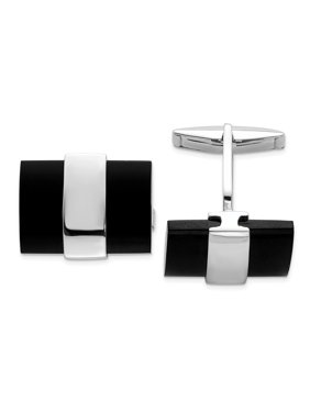 925 Sterling Silver Black Onyx Cuff Links Mens Cufflinks Link Man   For Dad Mens  For Him
