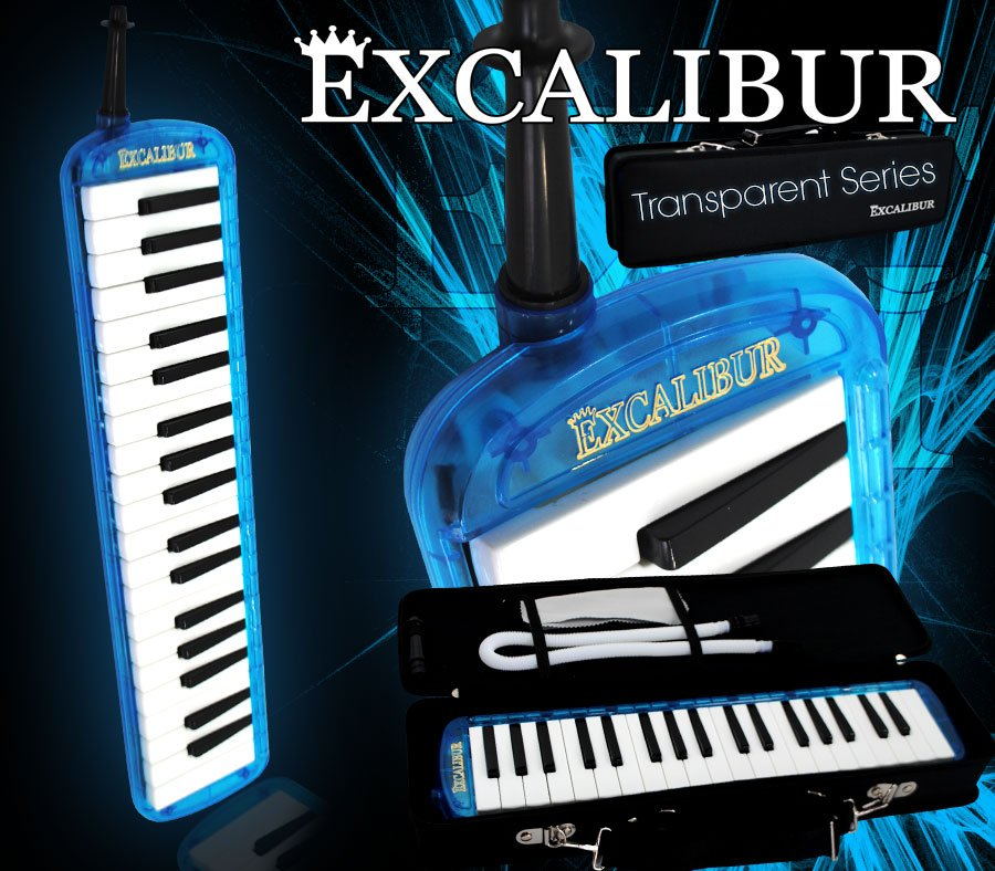 Excalibur Melodica Transparent Series Ocean Blue by