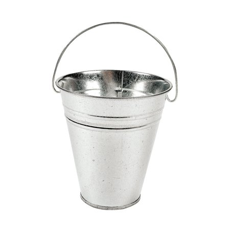12-Pack Large Galvanized Metal Buckets With Handle 5