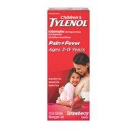 Children's Tylenol Pain + Fever Relief Medicine, Strawberry, 4 fl. oz
