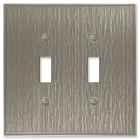 Questech Twill Decorative Metal Double Toggle Light Switch
