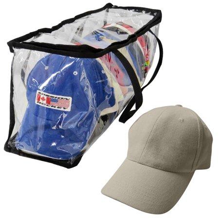 Evelots Hat-Cap-Storage Bag-Baseball-Organizer-Handles-Dust,Moisture Free-15 Hat