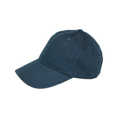 Kids Cotton Twill Solid Color Summer Baseball Cap, Navy Blue ()