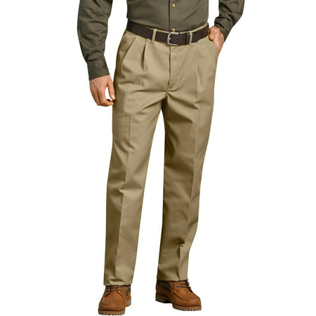 Men's Pleated Comfort-Waist Work Pants ()