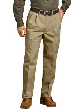Genuine Dickies Men's Pleated Comfort-Waist Work Pants