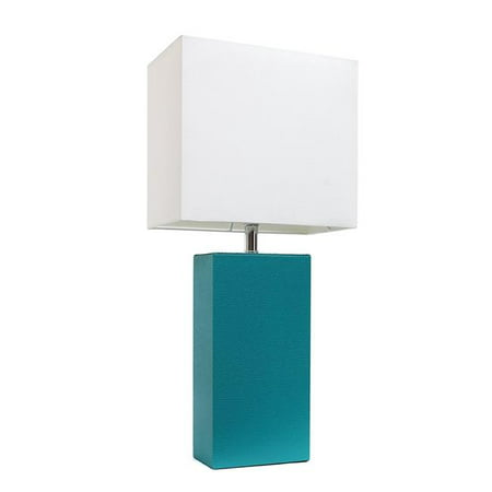 Modern Teal Leather Table Lamp, Teal - image 1 of 1