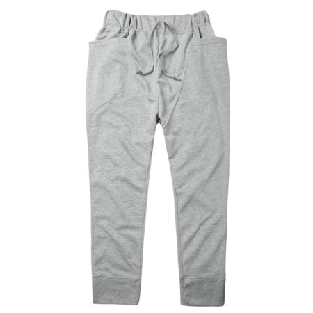 Men Stretchy Waist Design Sports Wear Light Gray Casual Pants W28/30 - image 5 of 7