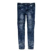 Encrypted Boys 4-18 Skinny Moto Denim Jeans