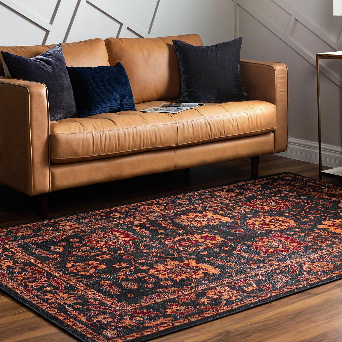 Rugs.Com Lucerne Collection Area Rug – 8' x 10' Black ...