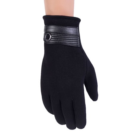 Touch Screen Gloves, Aniwon Winter Warm Windproof cycling Motorcycle Ski Riding Gloves for Women Men Black