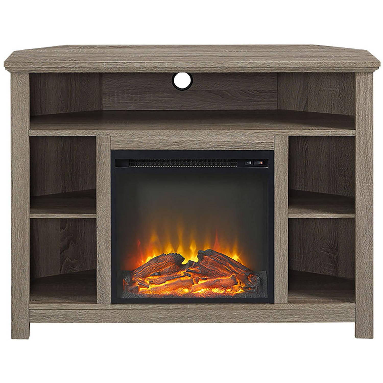 Manor Park Tall Corner Fireplace Tv Stand For Tv S Up To 48 Espresso Walmart Com Walmart Com