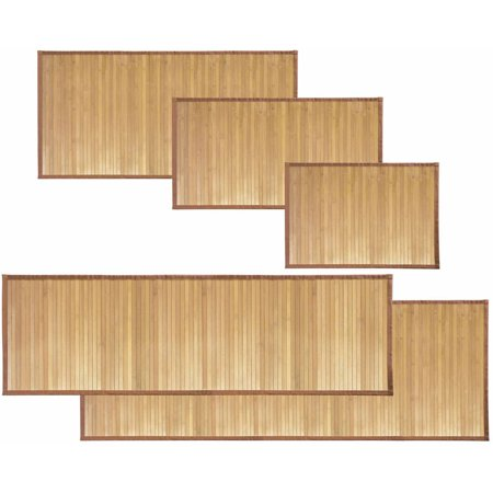InterDesign Formbu Bamboo Floor Mat Collection - Bamboo Beach Mat