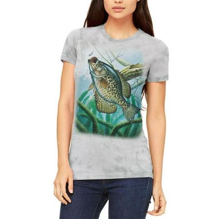 Action Crappie Fishing Juniors Soft T Shirt Soft Green Triblend 2XL thumbnail