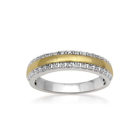 Forever Bride 1/20 Carat T.W. Diamond Sterling Silver Gold-Plated Men's - Bride Of Chucky Ring
