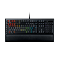 Razer Ornata Chroma: Mecha-Membrane - Individually Backlit Mid-Height Keys - Leatherette Wrist Rest - Gaming Keyboard