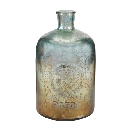 """12"""" Aqua Antique Mercury Glass Bottle - image 1 de 1"""
