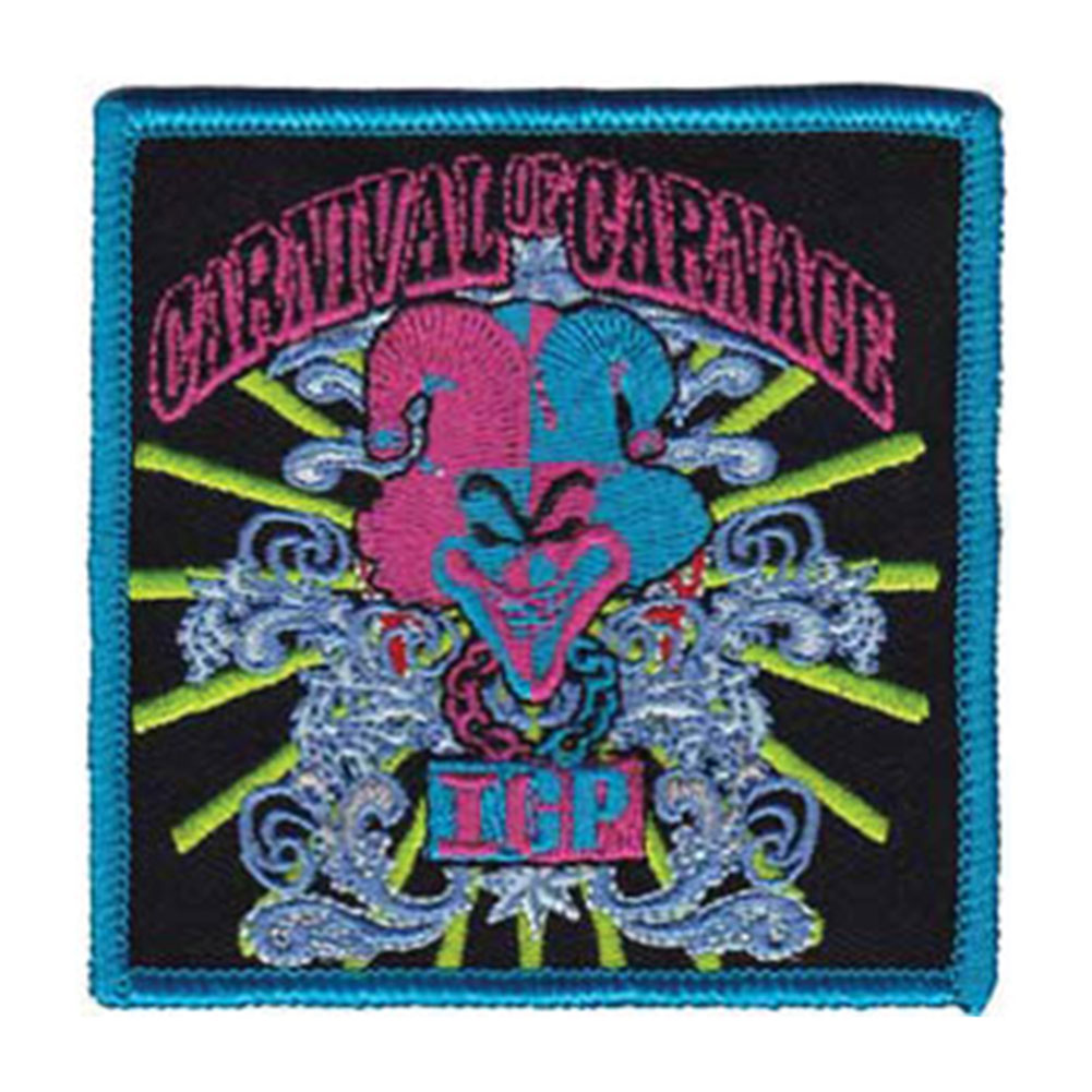 Insane Clown Posse Men's COC Rays Embroidered Patch Black