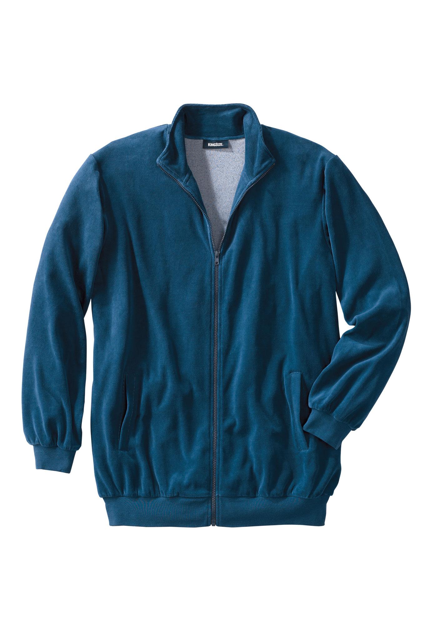 Men/'s Explorer Jacket Fleece Sherpa Ink Blue Size 6XL by KingSize